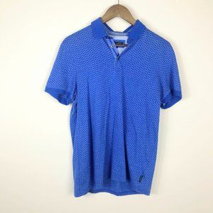 Ted Baker London Blue Geometric Polo Size 3